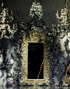 Dior's couture runway entrance